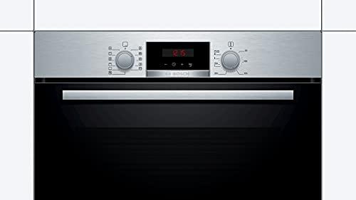Bosch HBA174BR0 Forno da Incasso Serie 2, Funzione Pirolisi in Acciaio Inox