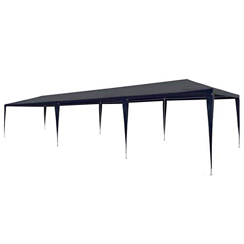 lyrlody- Pabellón de Jardín, 3 x 9 x 2,55 m Carpas para Exteriores Plegable Carpa Cenador Protección UV Impermeables Azul, para Espectáculo Boda Fiestas Barbacoa Festival