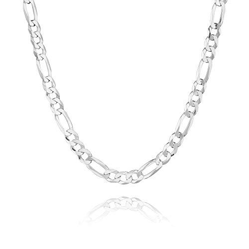 STERLL Herren Halskette Sterling-Silber 925 50cm Ohne Anhänger Kleine Geschenke für Männer