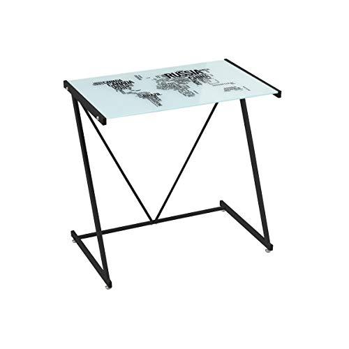 Mesa Escritorio de Cristal Negra Moderna para Dormitorio Factory - LOLAhome