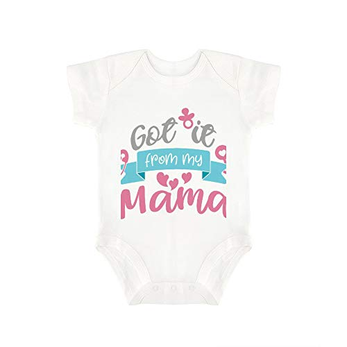 Promini Combinaison pour bébé avec Inscription « Got It from My Mama » - Blanc - 18 Mois