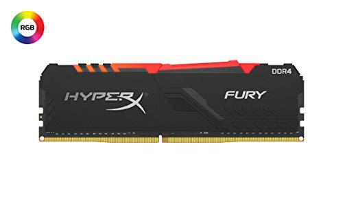 Kingston HyperX Fury – Memoria USB (16 GB, 3466 MHz, DDR4 CL16, DIMM, RGB, XMP), 3200Mhz, 16 GB