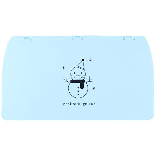 Aufbewahrungsclip fürMundschutz tragbar Aufbewahrung für tragbare Gesichtsschutz Aufbewahrungsbox für Staubdicht Schutz Aufbewahrungstasche für Atemschutz (Blau)