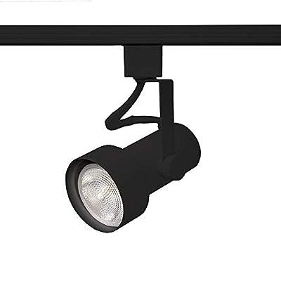 WAC Lighting HTK-725-BK H Series Line Voltage Track Head in Black Finish