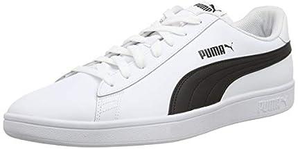 PUMA Smash v2 L, Zapatillas Unisex Adulto, White Black, 42 EU