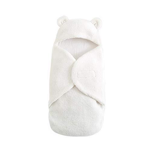 OeyeO baby capuchon pluche Swaddle deken baby ontvangen deken, pasgeboren schattig warm slaapzak voor baby Volledig verpakt