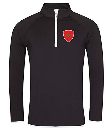 Nation Marokko Sweatshirt Sport Atmungsaktiv UV-Schutz JC SC-W (L)
