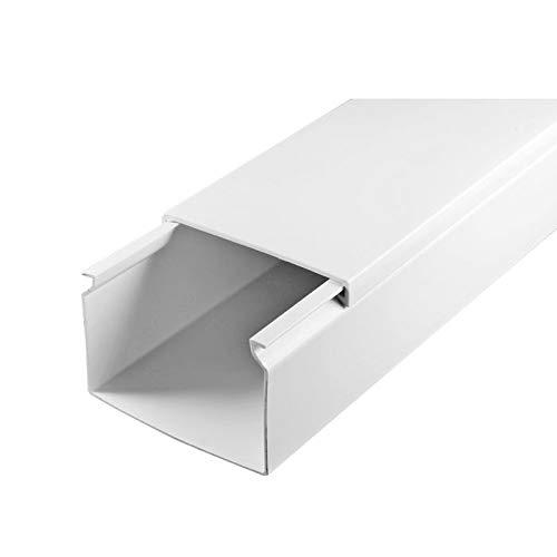 SCOS Smartcosat SCOSKK136 50 m Kabelkanal (L x B x H 2000 x 60 x 40 mm, PVC, Kabelleiste, Selbstklebend) weiß