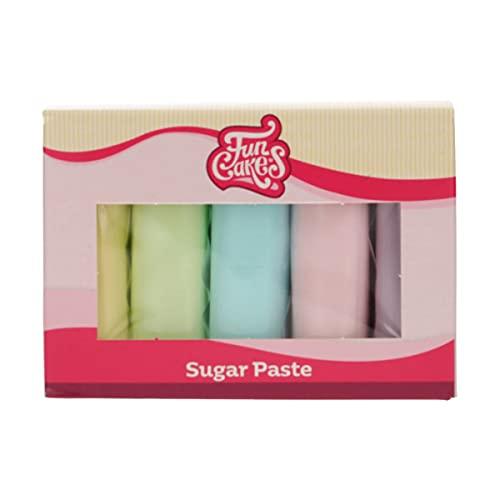 FunCakes Pasta de Azúcar Multipack Colores Pasteles 5 x 100 g