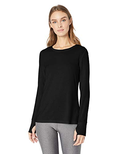 Amazon Essentials Studio Long-Sleeve T-Shirt camisa, Negro, M