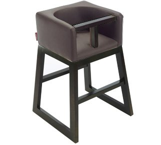 Great Deal! Tavo High Chair by Monte Design (Brown Bonded Leather Body with Espresso Wood Base)
