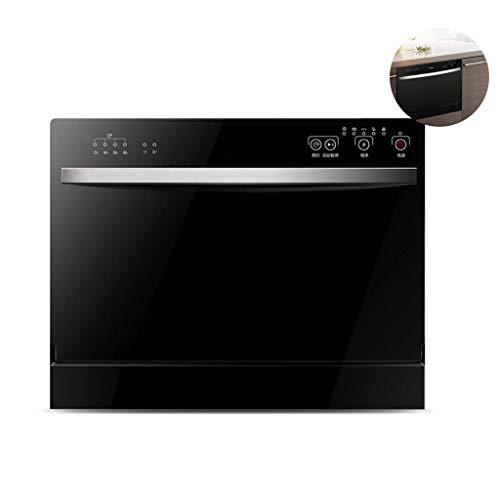 Gpzj Tragbare Aufsatzgeschirrspülmaschine, Einbaugeschirrspülmaschine für die Küche zu Hause, Reinigung bei 70 ° C, Eingebaute Spülmaschine für schnelle Reinigung, 6 Sätze, Schwarz