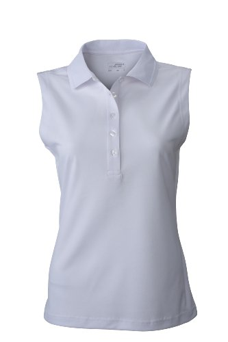 Ladies' Active Polo Sleeveless | white | L im digatex-package