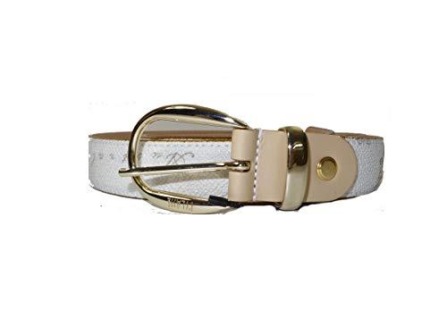 Alviero Martini 1^ Classe Cintura Donna cm 2,5   cm 105 Geo Bianco   Fibbia oro