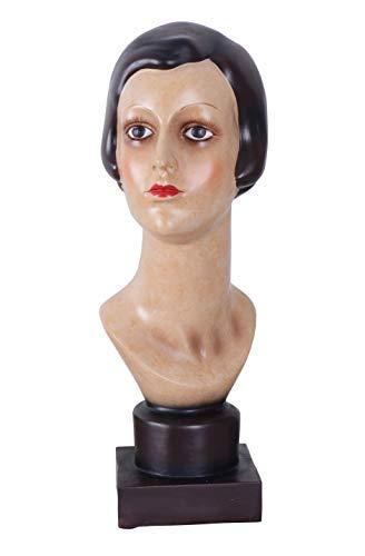 Frauenbüste Dekobüste Art Deco Kopf 20er Mädchenbüste Frauenkopf Büste 46cm neu TVC027 Palazzo Exklusiv