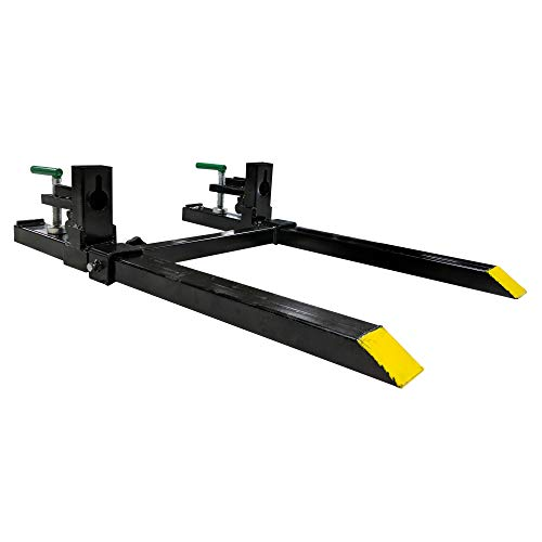 "Titan 30"" LW Clamp on Pallet Forks w/Adjustable Stabilizer Bar 1500lb Capacity Loader Bucket Skidsteer Tractor"