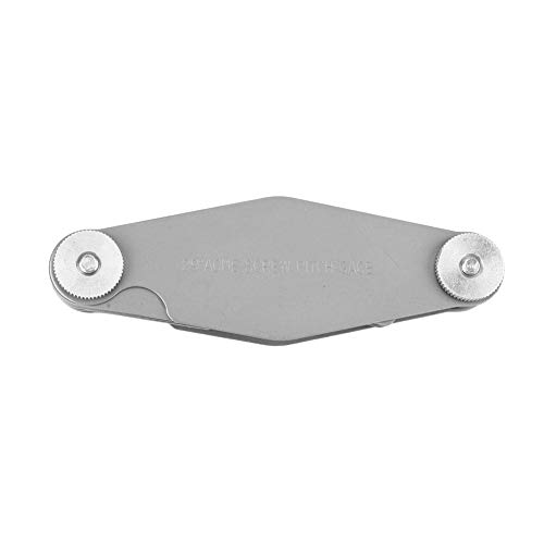 Fafeicy Medidor de paso de rosca, calibre de hilo en T, herramienta de medición de calibre de corte de paso de tornillo Whitworth de rosca(29 degree)