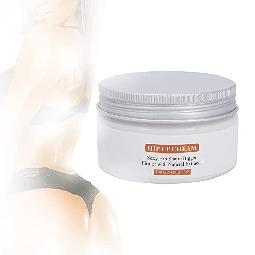 Crema para realzar glúteos, 100g Crema para glúteos de cadera Crema de masaje hidratante reafirmante con forma de levantamiento de cadera
