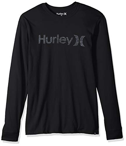 Hurley Herren M ONE&ONLY Push Through L/S T-Shirts, Light Carbon, L