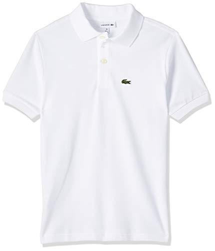 Lacoste Jungen Pj2909 Poloshirt, Weiß (Blanc), 14 Jahre (Herstellergröße: 14A)