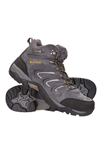 Mountain Warehouse Aspect Herrenstiefel m. Iso-Grip - wasserfeste Wanderschuhe, Phylon-Mittelsohle, Eva-Polster, Wildleder-Mesh-Obermaterial - zum Laufen, Campen, Reisen Kohle 45