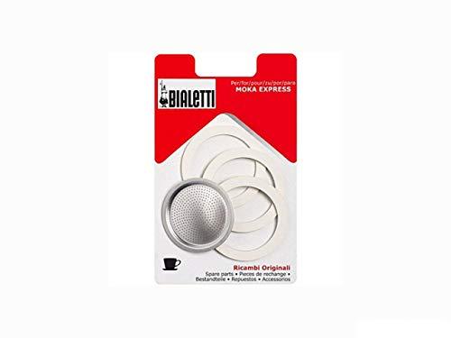 Bialetti - Guarnizione di ricambio in gomma per 1 tazza Moka Express (confezione da 3)