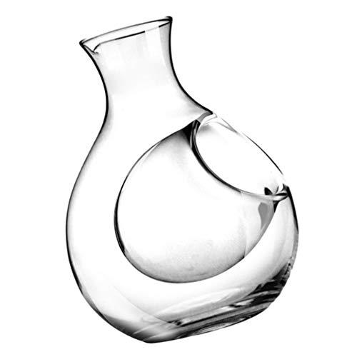 TOYANDONA Aireador de Decantador de Vino Cristal Botella de Vidrio Jarra de Vino Aireador de Vino Tinto Regalos de Jarra de Vino