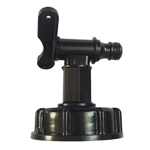 Sue-Supply IBC - Conector para manguera de depósito de agua para el jardín doméstico, conector de rosca, adaptador de drenaje de depósito de agua, tonelada, válvula de cilindro