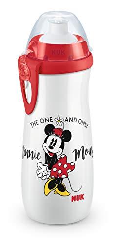 NUK 10255415 Disney Mickey Mouse Sports Cup, Trinkflasche für Kinder ab 36 Monate, auslaufsicher, BPA-frei, großes Volumen, 450ml, weiß