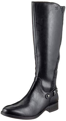 CAPRICE Damen Stiefel 25521-21,Frauen Boots,Lederstiefel,Reißverschluss, Decksohle,2.5cm,Black Nappa,UK 5,5