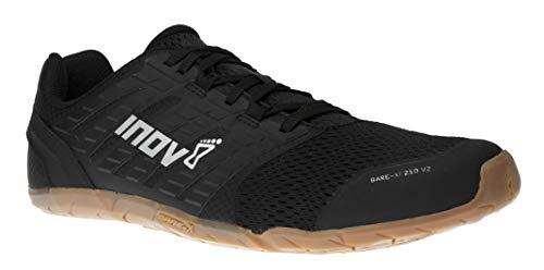 Inov-8 Womens Bare-XF 210 V2 - Barefoot Minimalist Shoes - Zero Drop - Versatile Everyday - Black/Gum - 7.5