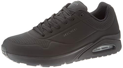 Skechers UNO Stand ON Air, Sneaker Uomo, Black Durabuck Trim Blk, 39 EU