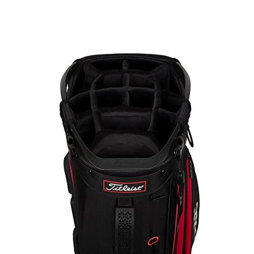 Product Image 3: Titleist - Hybrid 14 Golf Bag - Black/Black/Red