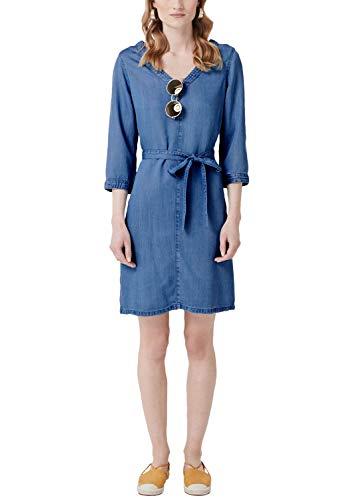 s.Oliver Damen 14.904.82.2771 Kleid, Blau (Blue Denim Non Stretch 55y5), (Herstellergröße: 40)