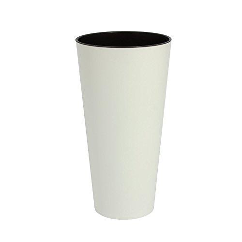 Blanc 20 cm de diametre TUBUS SLIM pot de fleur