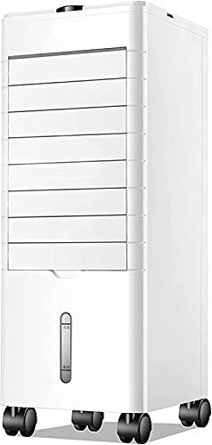 wangYUEQ Refrigerador de Aire evaporativo portátil con función de humidificación de Aire y Ventilador, 3 Niveles de Velocidad con oscilación, Tanques de Doble Agua de 3,8 l, Blanco (Color: Blanco)