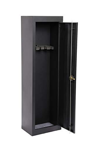 American Furniture Classics 5 Gun Starter Metal Security Cabinet, Powder Coated Black