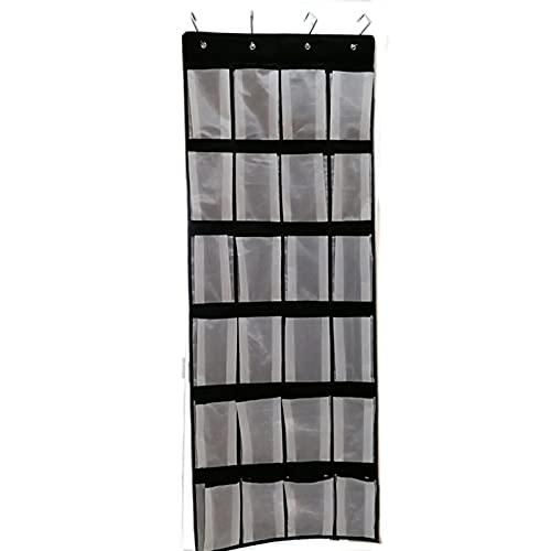 Bomoya 24 tasche portaoggetti da appendere con 4 ganci, panno in tessuto Oxford 600D, multiuso salvaspazio per gioielli, per casa, soggiorno, camera da letto
