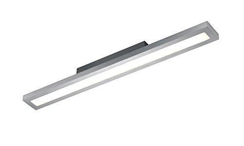 Trio Leuchten LED Deckenleuchte Silas 672212405, Aluminium gebürstet, Acryl weiß, 24 Watt