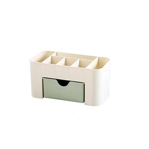 erthome Einsparung Space Schublade Typ Make-up Kit Desktop Kosmetik Organizer Aufbewahrungs Box (221010.3 cm, Grün), 22 x 10 x 10.3 cm