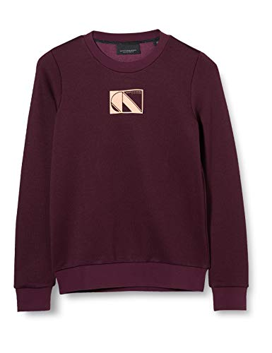 Scotch & Soda R´Belle Girls Club Nomade Basic Sweat Sweatshirt, Burned Plum 3787, 12