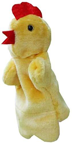 NC86 Juguetes de Peluche, Regalos de decoración del hogar, Marionetas de Mano de Animales de Dibujos Animados, muñecos de Terciopelo Suave, Accesorios, Juguetes - gallina