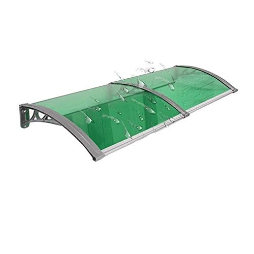 Patio Porch Awning Shelter Household Application Door Outdoor Polycarbonate Front Door Window Awning Patio Canopy Rain Cover Eaves (Color : Green, Size : 80x80cm)