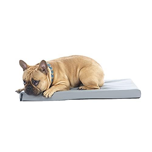 51DegreesNorth - Colchón ortopédico ortopédico para perros, cama para perros, cojín para perros, funda lavable con memoria, color gris rocky, tamaño S-XXL (M: 73 x 45 x 5 cm)