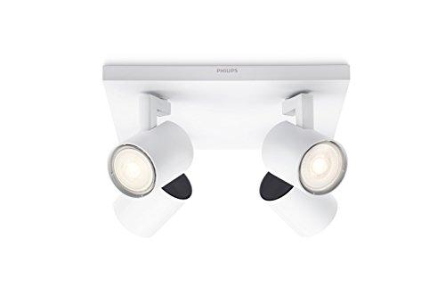 Philips 5309431P0, myLiving LED Spot Runner 4flg, 920lm, Weiß, Metall, 3.5 watts, Integriert, 24 x 24 x 10.9 cm