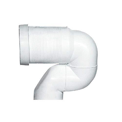 Curva tecnica per WC filomuro con scarico a terra - regolazione da 16 a 20 cm