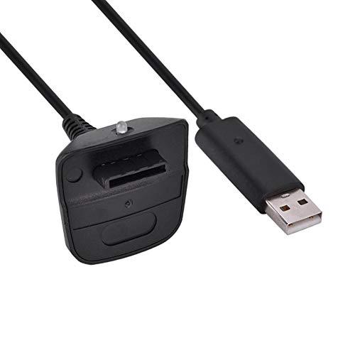 VBESTLIFE Cavo di Ricarica rapido per Caricabatterie USB per Controller Wireless Xbox 360(Nero)