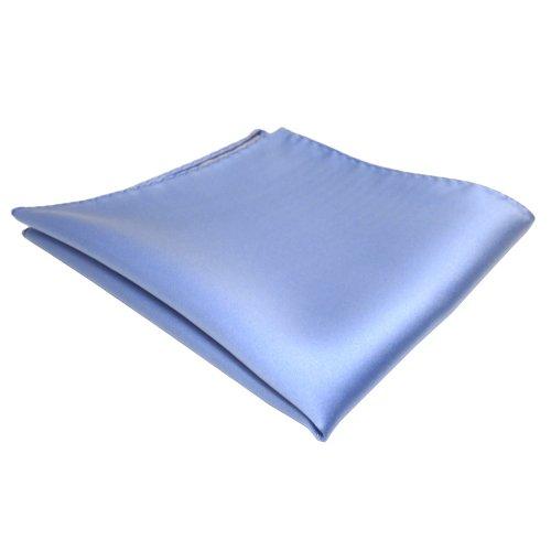 TigerTie Designer Einstecktuch in blau hellblau einfarbig uni