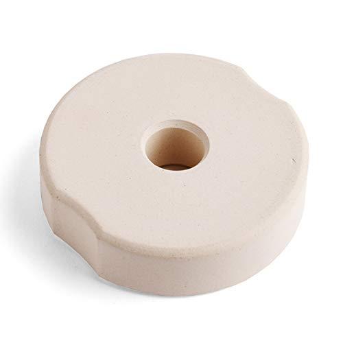 SOFTCOREFOOD Beschwerungsstein 8 cm/für Bügelglas/Sauerkraut herstellen/Fermentieren (Beige, Keramik)