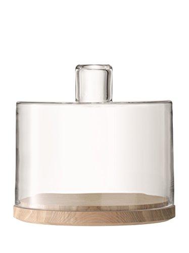 LSA International Lotta Dôme à fromage et cendres Transparent, Verre, transparent, 25.5 cm